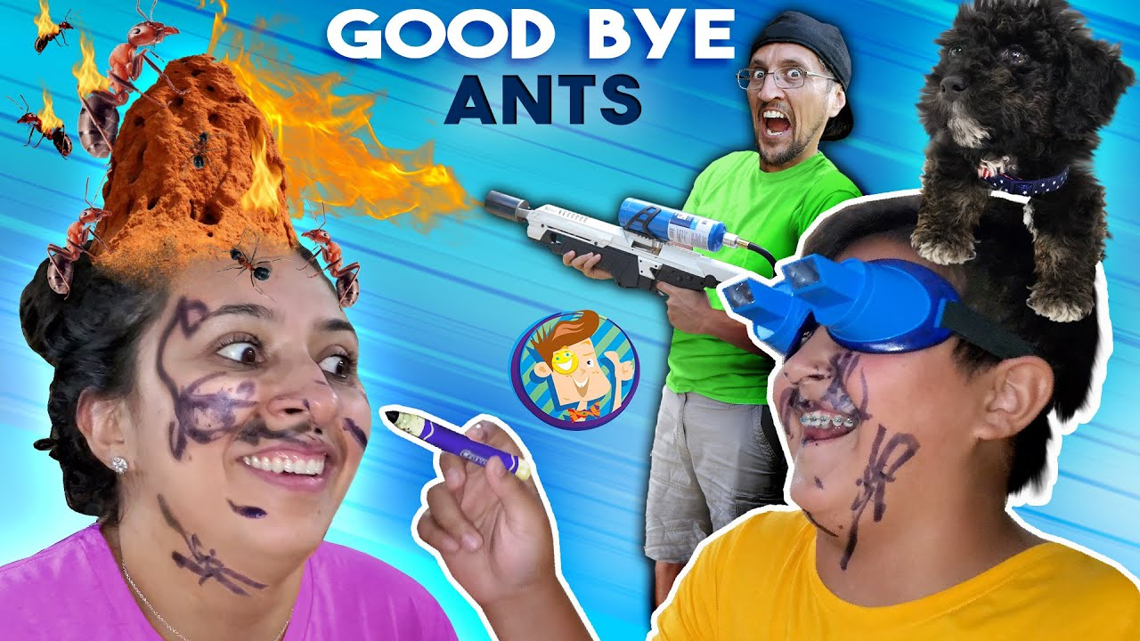 Download I AM THE ANT BULLY???  + Upside Down Marker Mustache Challenge (FV Family Airzooka Vlog)