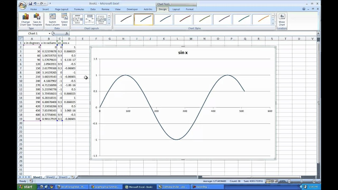 how to draw vibration graph in excel