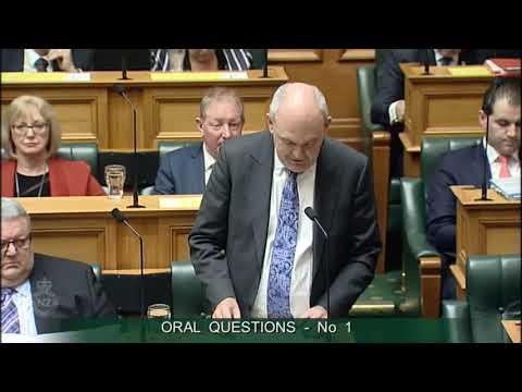 Question 1 - Brett Hudson to the Minister of Finance