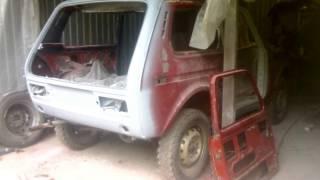 кузовной ремонт и восстановление нива 2121 1980 г.в. Restoration cars