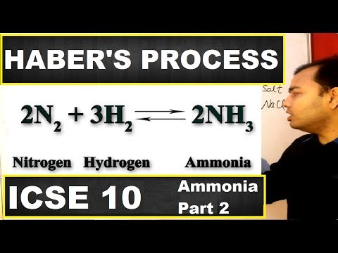 Haber's Process | Haber's Process for Manufacture of Ammonia | class 10 , 12 | ICSE 10 Chemistry |