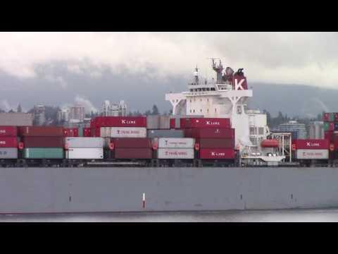 Container Ship GRANVILLE BRIDGE departing Port of Vancouver (June 2, 2016)