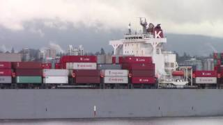 Container Ship GRANVILLE BRIDGE departing Port of Vancouver (June 2, 2016)