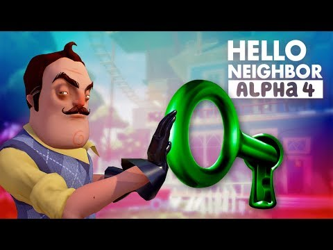 GREEN KEY! - Hello Neighbor Alpha 4 from YouTube · Duration:  15 minutes 2 seconds