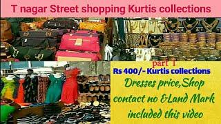 shopping haul tamil||T Nagar Shopping!!! Street shopping @ Rs400 Kurtis collections|| vlog tamil