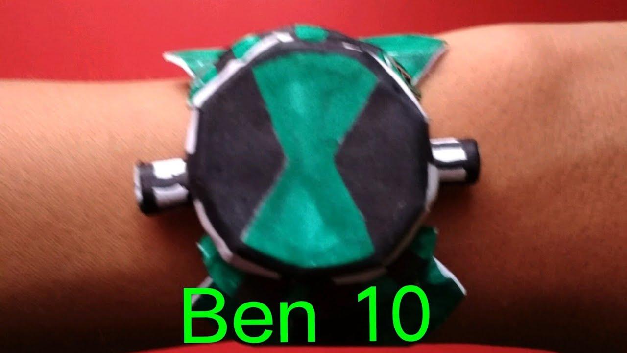 Как сделать из бумаги часы бен 10