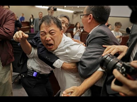 Hong Kong Parliament Fight Breaks Out Over Extradition Law With Mainland China