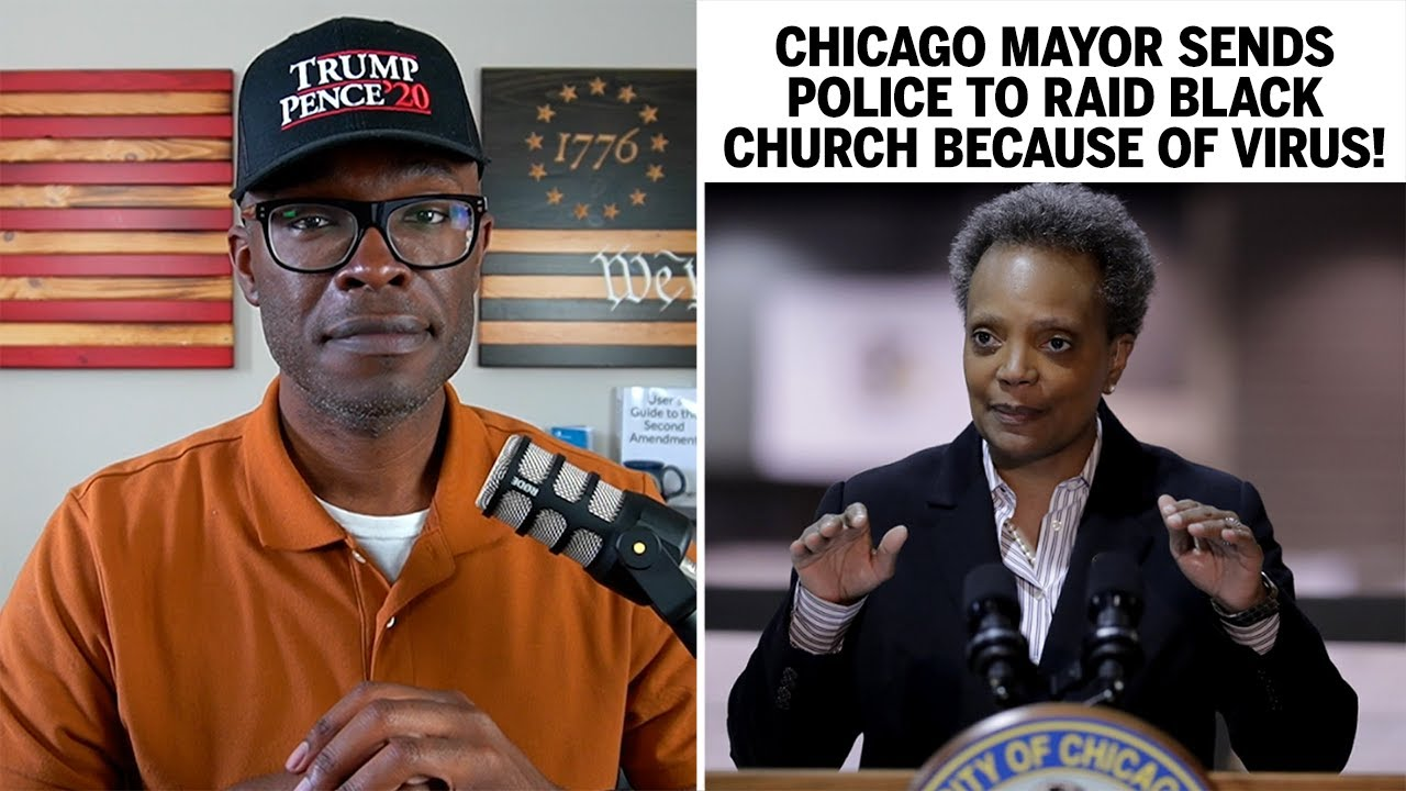 Chicago Mayor Sends POLICE To RAID Black Church Because of VIRUS!