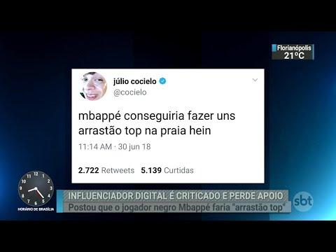 Youtuber Júlio Cocielo perde patrocínio após comentário em rede social | SBT Brasil (02/07/18)
