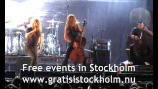 Apocalyptica feat Tipe Johnson - I'm Not Jesus, Live at Stockholms Kulturfestival 2009, 6(13)