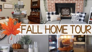 FALL DECOR HOUSE TOUR | FARMHOUSE RUSTIC DIY DECOR | FALL 2018