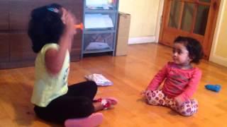 Disha Lasya playing with whistle Thumbnail