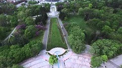 Прелет над Морската Градина на Варна, Пантеона, Спортна Зала и Морско училище