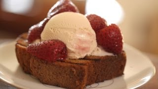 Roasted Strawberries With Grilled Pound Cake Recipe || Kin Eats