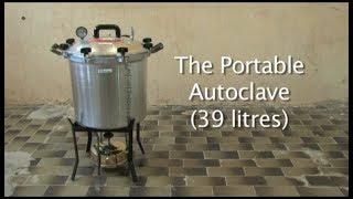 The portable autoclave (39 litre)