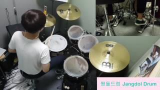 BLACKPINK-불장난 (PLAYING WITH FIRE) / 짱돌드럼 Jangdol Drum (드럼커버 Drum Cover, 드럼악보 Drum Score)