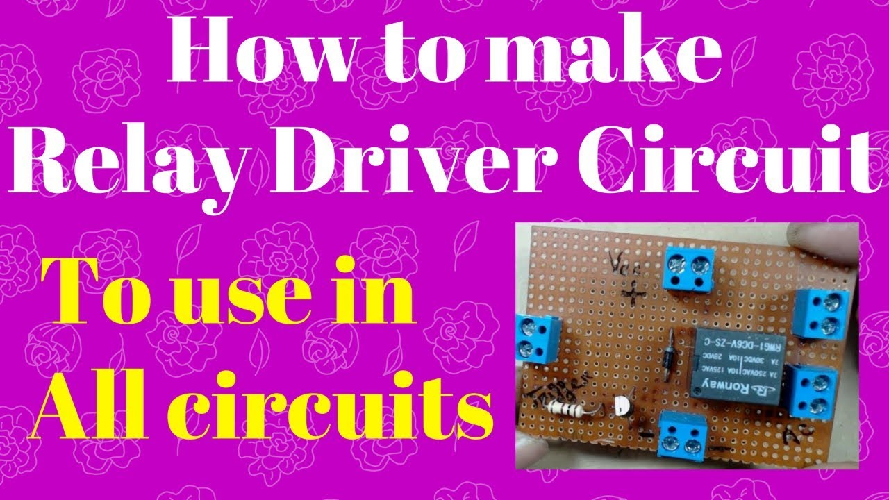 How To Make A Simple Relay Circuit Driver Using Transistor Through An Optocoupler Electronic Projects