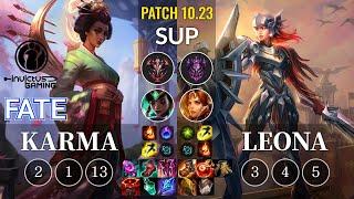 IG Fate Karma vs Leona Sup - KR Patch 10.23