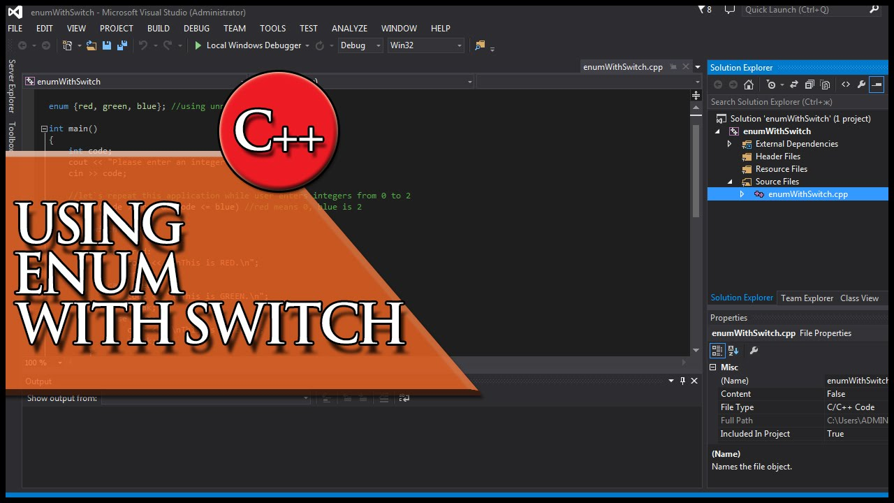C++ Using enums with switch statements