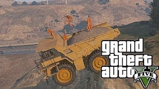 GTA 5: Inmates Gone Wild! (Barb Wire Death, Dump Truck Stunt Fails, Prison Escape Fail)