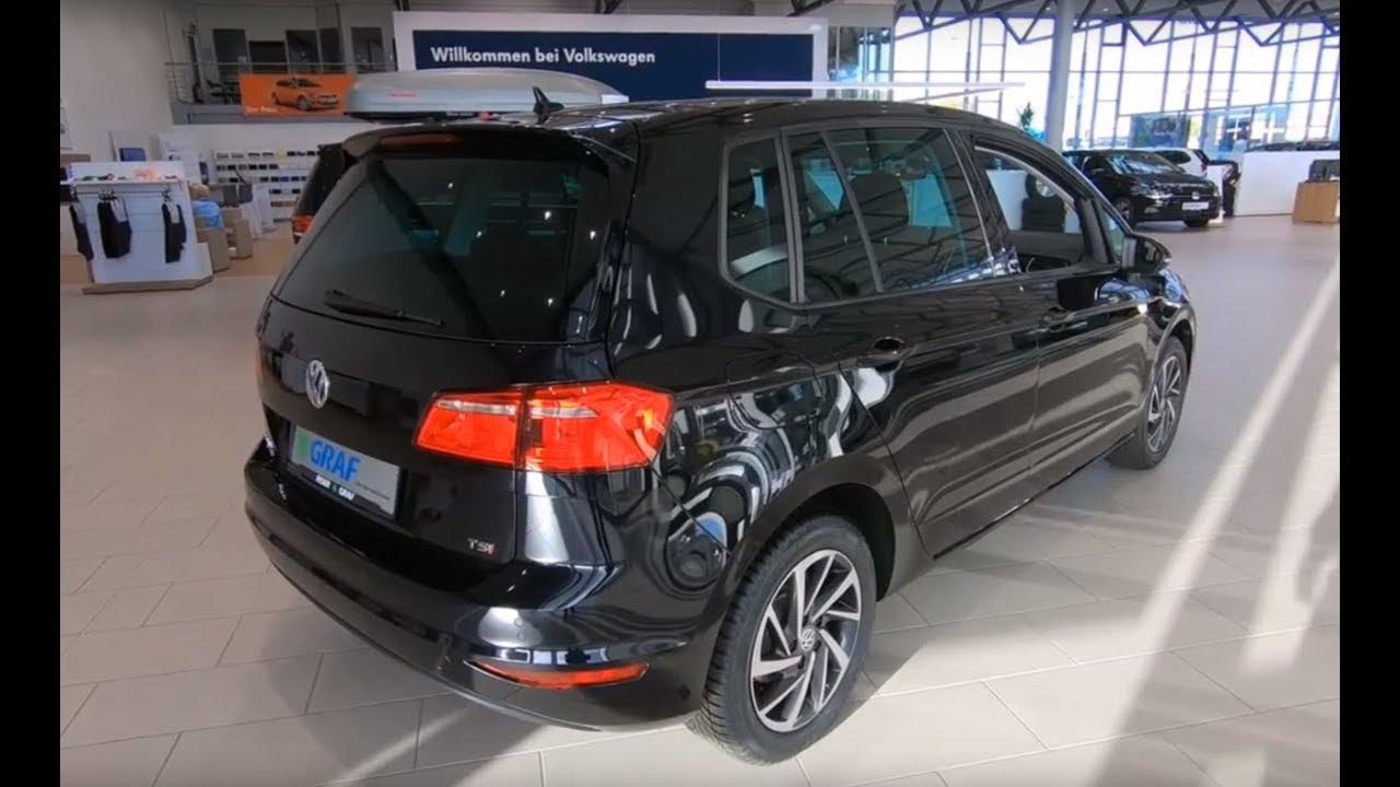 volkswagen vw golf sportsvan sound deep black colour walkaround interior youtube. Black Bedroom Furniture Sets. Home Design Ideas