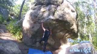 Escalade à fontainebleau 6 blocs différents au rochers canons