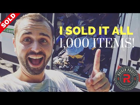 I Sold My ENTIRE Clothing Inventory - 1,000 + Pieces In One Shot!