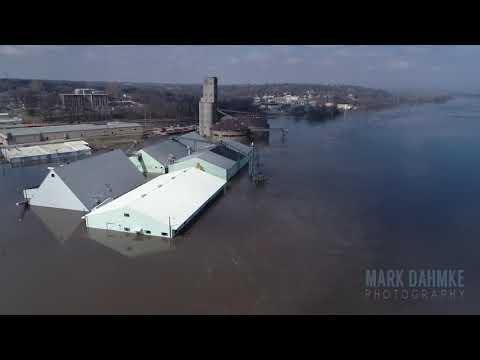 Flooding at Nebraska City, Nebraska, March 17, 2019