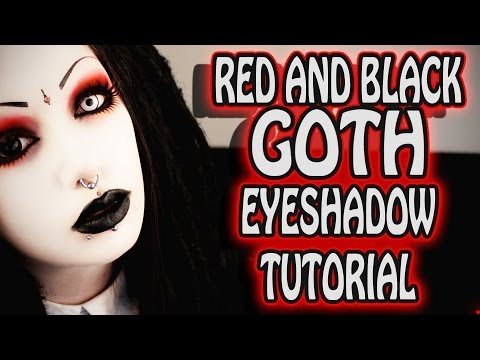 Red and Black Goth Eye Makeup Tutorial   Toxic Tears