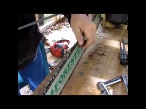 Bumper Link Chain Sharpening and Test Cuts