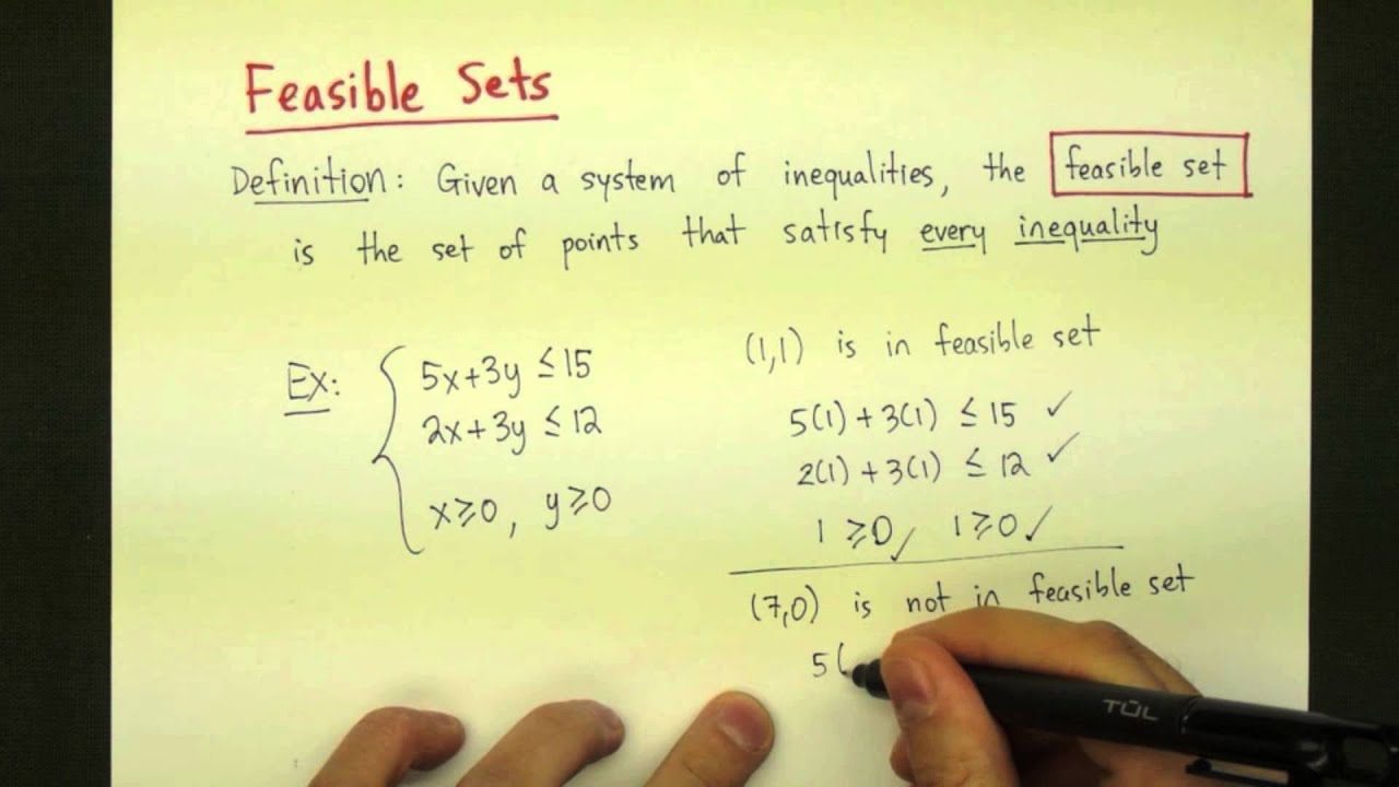 High Quality Feasible Sets   YouTube