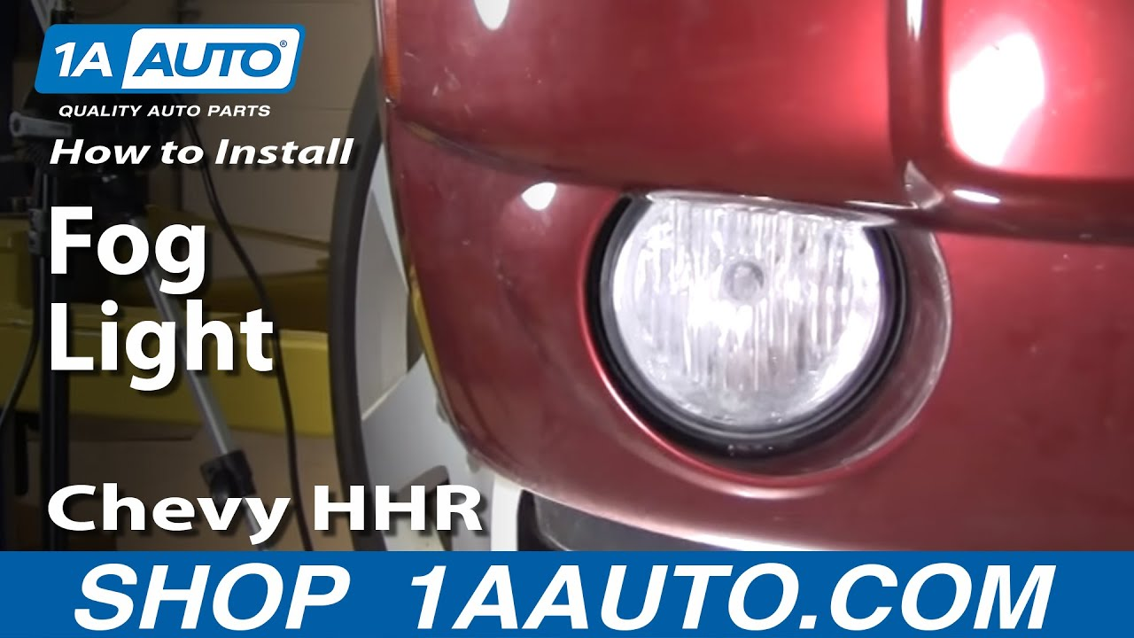 how to replace fog driving light 06 11 chevy hhr [ 1280 x 720 Pixel ]
