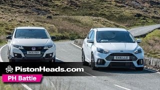 Ford Focus RS vs. Honda Civic Type R at Anglesey - PH Battle