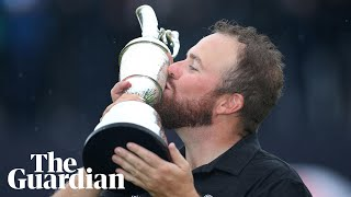 Shane Lowry celebrates winning the Open and first ever major