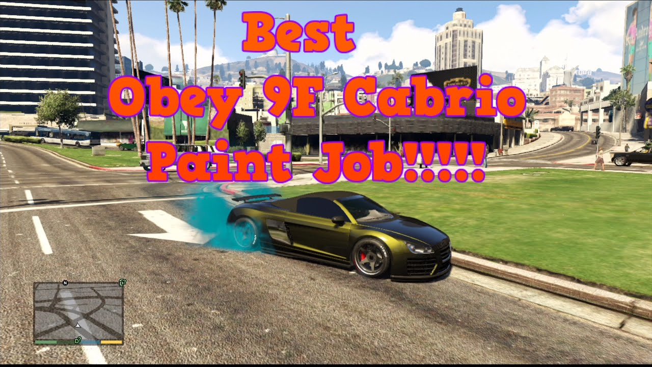 GTA 5 Online - Best Obey 9F Cabrio Paint Job!!!!! - YouTube