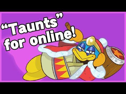 Alternative taunts for online - Super Smash Bros Ultimate