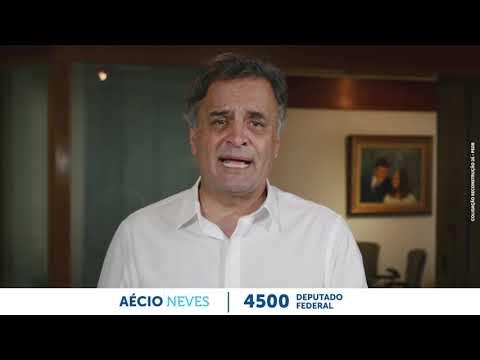 Aécio Neves fala sobre sua campanha para deputado federal