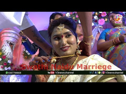 Swathi Naidu Real Marriage Exclusive Video || V3 News