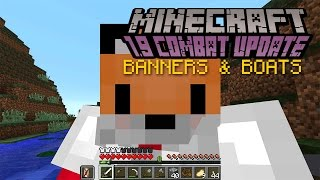 Minecraft   BANNERS & BOATS   1.9 Combat Update Challenge [3]