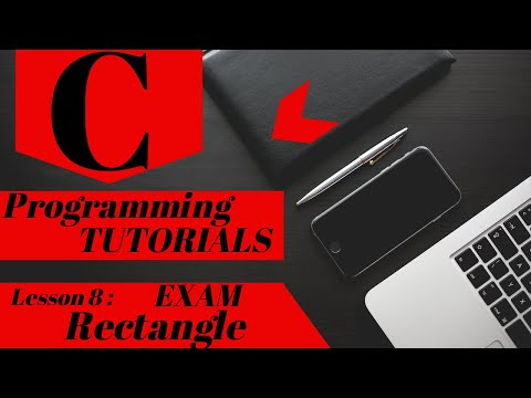 C Programming Tutorial | Lesson 8 | Exam - Area and Perimeter of Rectangle thumbnail