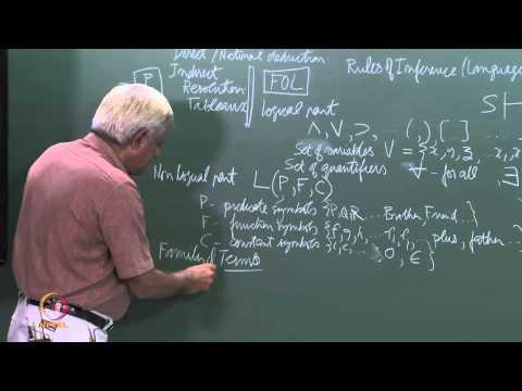 Mod-01 Lec-45 First Order Logic (FOL)