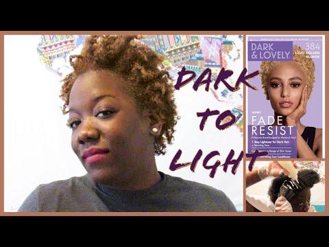 NEW DARK & LOVELY 384 LIGHT GOLDEN BLONDE (Fade Resist) On 4C NATURAL HAIR