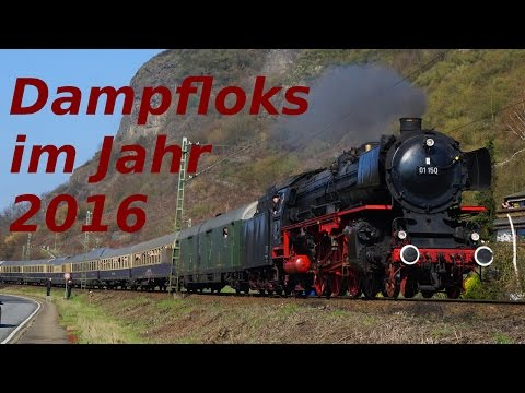 Dampfloks im Jahr 2016 | Steam Trains 2016 (HD)