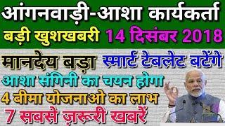 Anganwadi Asha Worker Today 14 December 2018 Latest Salary News Hindi| आंगनवाड़ी आशा सहयोगिनी न्यूज़