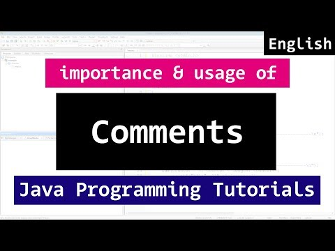 12 | Comments in Java Programming Video Tutorials for Beginners