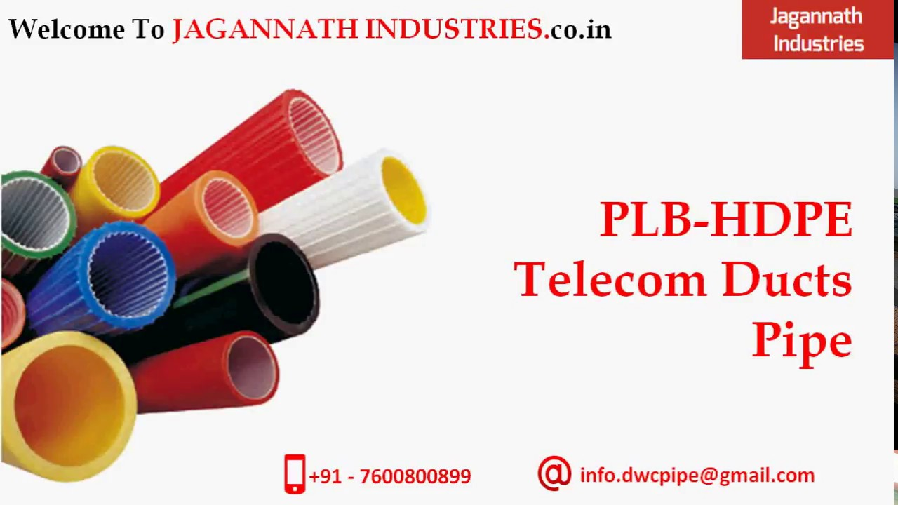 All About Plb Hdpe Telecom Ducts Pipe Youtube Pvc Conduit Duct For Electric Communication Industries Jagannath