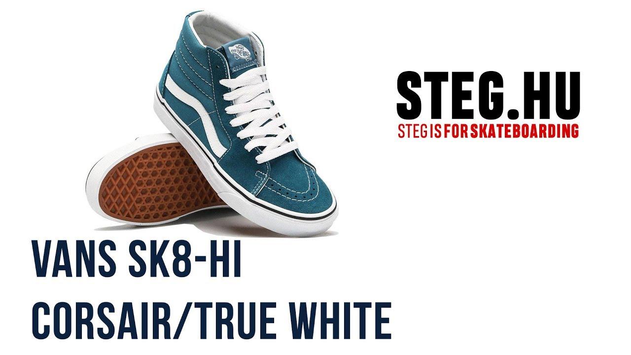 81e35167ca7494 Vans Sk8-Hi Corsair True White unboxing - YouTube