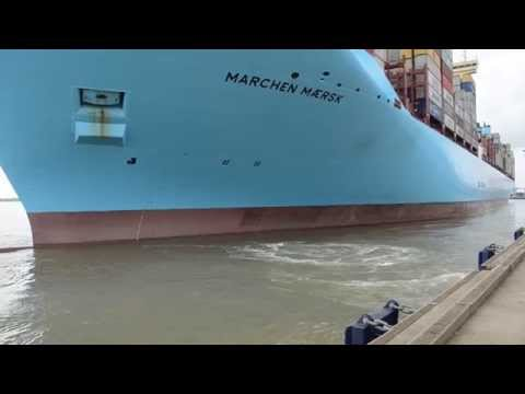 """MARCHEN MAERSK"" - a brief clip of the vessel leaving the quay at Felixstowe."