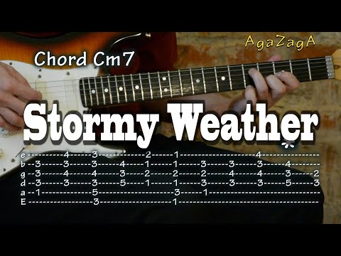 Stormy Weather   Tab amp Chords Guitar lesson como tocar