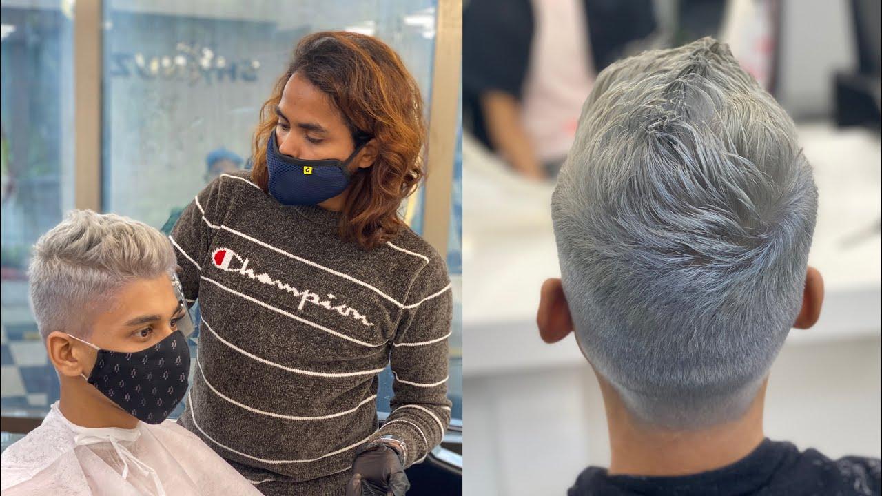 Hair Transformation |Silver Hair Colour & Haircut | Shanuzz Salon